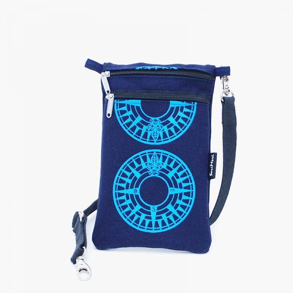 Mobilebag-compas-marine-blue