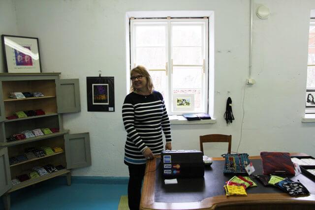 Uusi työhuone Fiskarsissa ja pieni oma kauppa