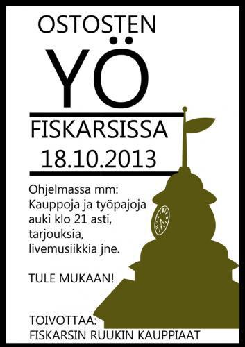 18.10.2013 Fiskarsin Ostosten Yö