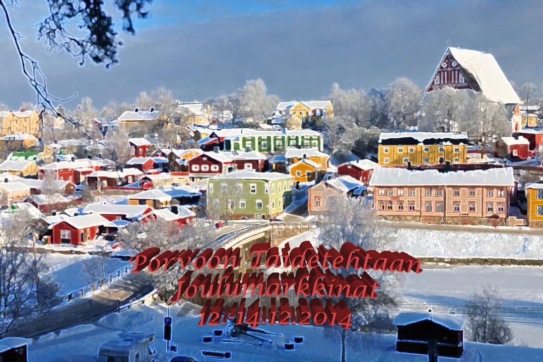 Porvoon Taidetehtaan Joulumarkkinat 12.-14.12.2014