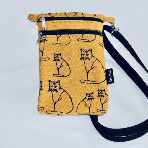 Kännykkälaukku kissat okra