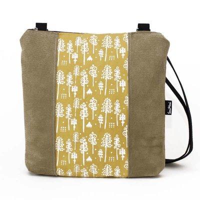 Uniikki laukku, metsäkuvio