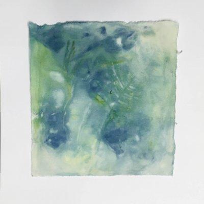 Eco printing paperi, salvia punakaali