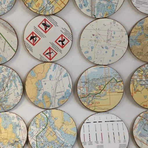 Jokainen alusta on erilainen, uniikki kuva käytetystä merikartasta karttasarja B