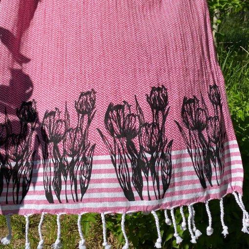 hamam pyyhe tulppaanit vaaleanpunainen
