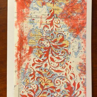 Joulukuusi merikortti, punainen
