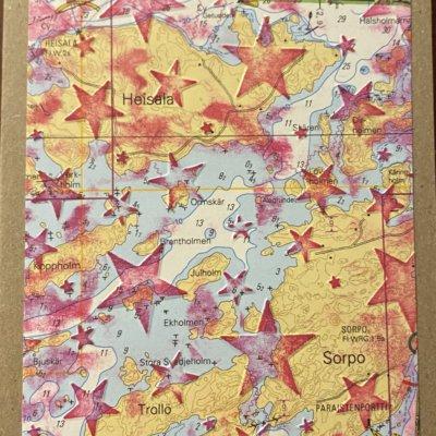 Tähdet merikortti, punainen